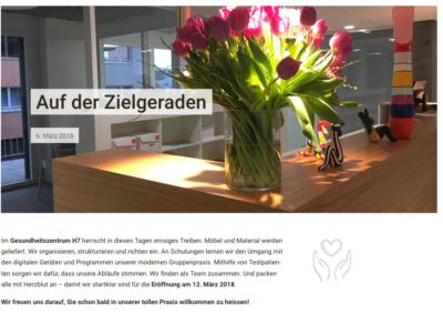 Schreibereien – Newsbeitrag Website Gesundheitszentrum
