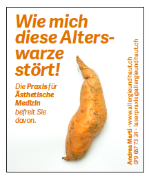 Schreibereien – Werbekampagne Praxis für Ästhetische Medizin, Beispiel 7